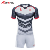 Wholesale mens women sublimated custom design your own logo long sleeve training uniform rugby league jersey
