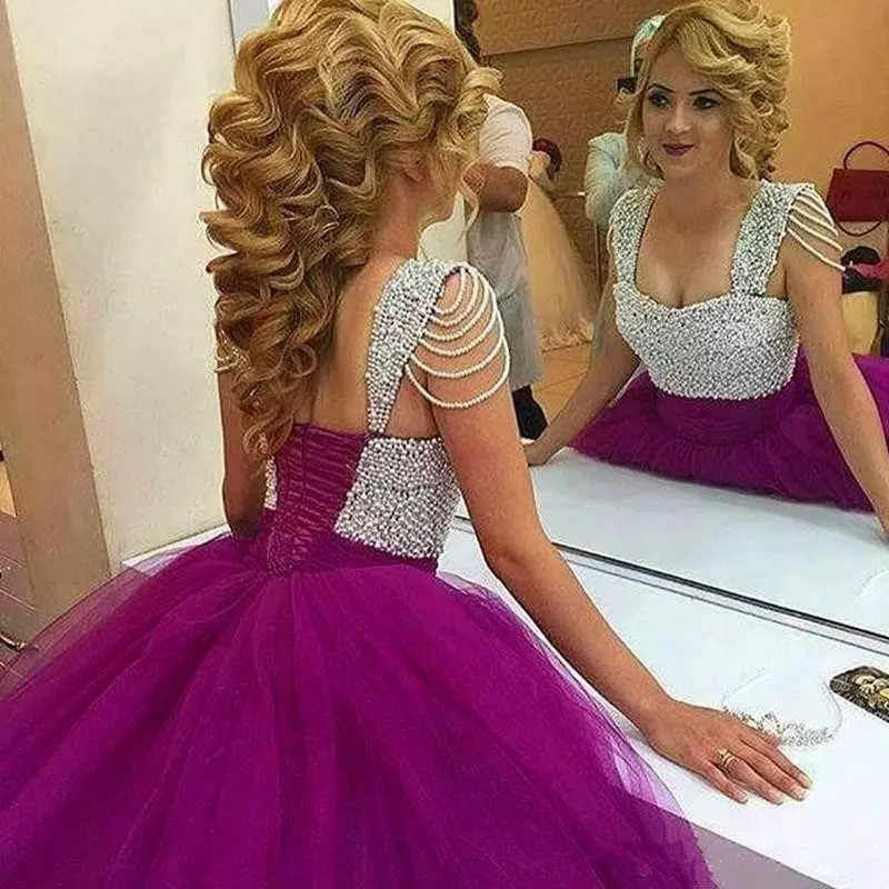 ab97297d7fe ... Pink gold edge Sweet 16 Quinceanera Dresses Sweetheart Ruffle Train  Beading Vestidos De 15 Anos Debutante