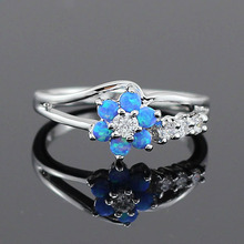 Cute Flower Opal Rings
