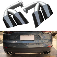 For Porsche series exhaust head Refit 18 year Cayenne factory sports tail throat  GTS pipe 2018