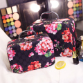 Korean Vintage Flowers Women Cosmetic Bag Quality Travel Cosmetic Organizer Zipper Portable Makeup Bag 2017 Trunk Cosmetic Bags
