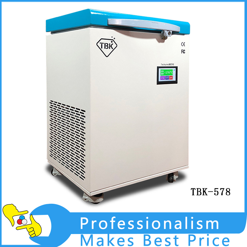 TBK-578 Mobile LCD Freeze Separator Machine -175C  Touch Screen Separating For iPhone Samsung Edge Phone Refurbishment built in air vacuum pump ko semi automatic lcd separator machine for separating assembly split lcd ts ouch screen glas