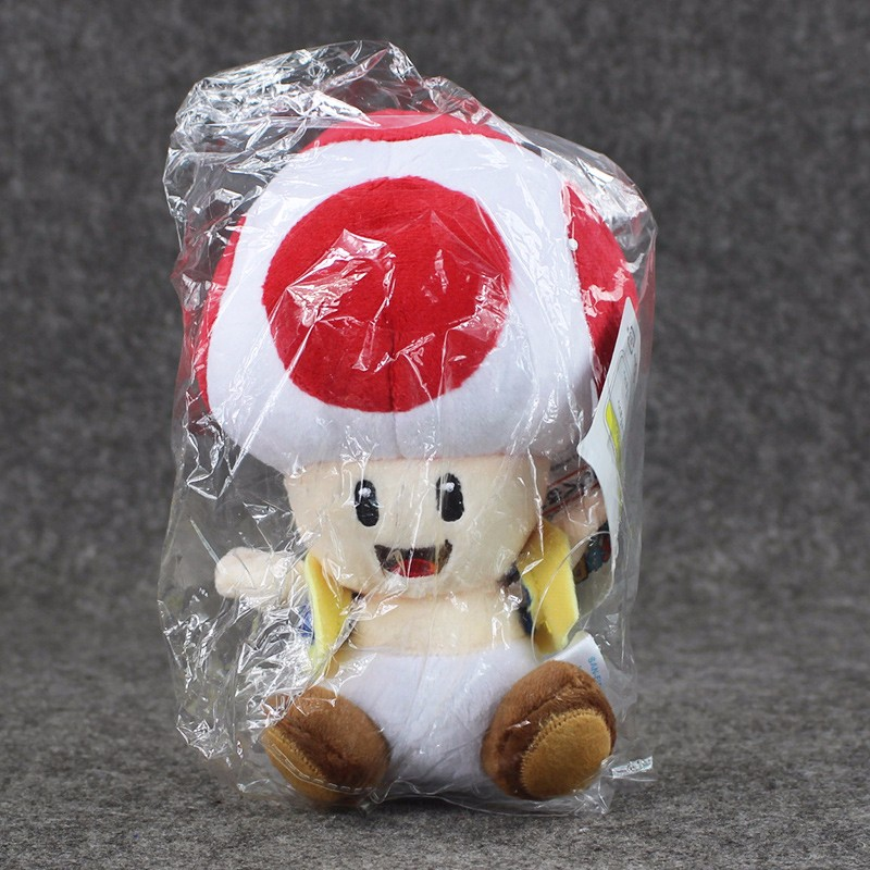 1pcs 7'' 17cmCute Super Mario Bros Plush Toys Mushroom Toad Soft Stuffed Plush Doll with Sucker Baby Toy For Kids 16
