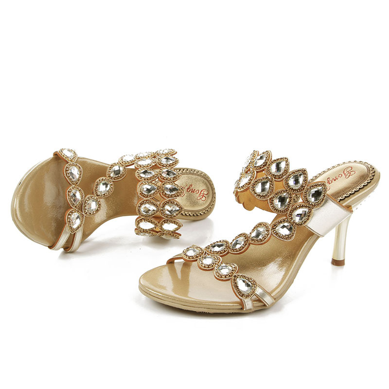 28b87298d4efd New Women's Comfortable Casual Sandal Summer Shoes Online Female Stylish  High Heel Sandals Stilettos Slippers Gold Purple Pink