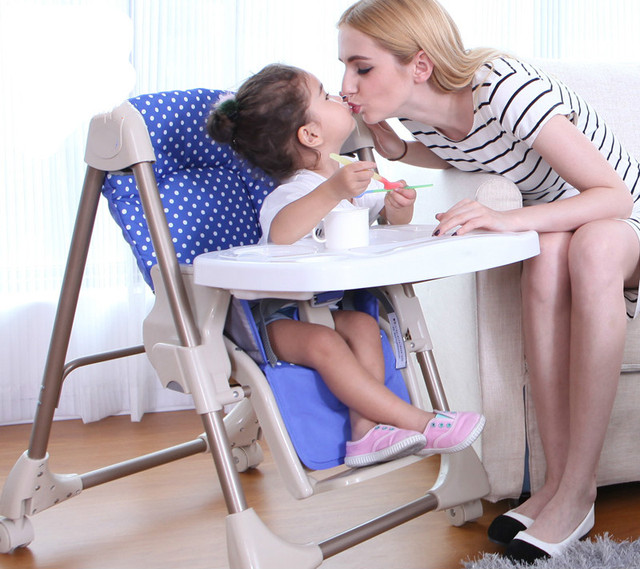 Multifunctional Adjustable Baby Dining Chair Super Soft Baby High Chair Table Seat Portable Folding Feeding Wheels Chair C01