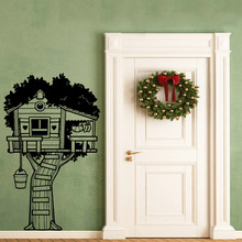 New Design tree house Wall Stickers Home Decor For Home Decor Living Room Bedroom Decoration Decal Waterproof Wallpaper цена и фото