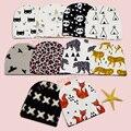 10 + Modelos de Moda Crianças Chapéu Quente Raposa/Tiger/Panda/leopardo/Tenda/X/Ave/Batman/Projetos do Urso Chapéu Das Meninas Dos Meninos, terno para 0-2 T