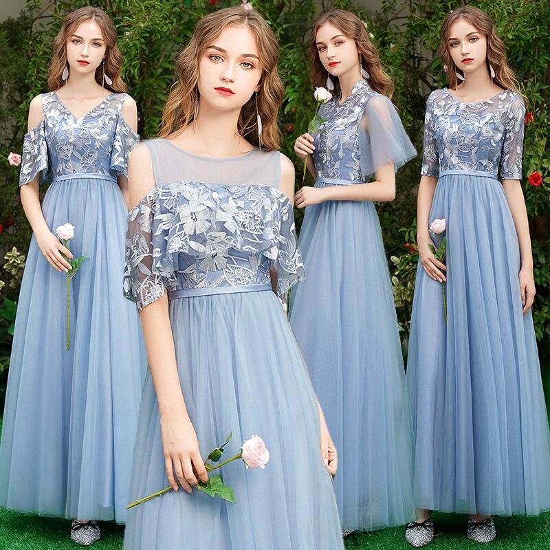 Beauty Lace Bridesmaid Dresses Long Plus Size for Women A-Line Half Sleeve Vestido Da Dama De Honra Reflective Dress