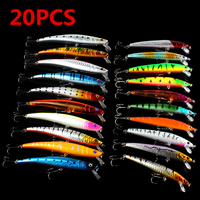 20PCS Minnow 2 Models 9 5cm 11 5cm Fishing Lures Sets 6 Hooks Fishing Hard Baits