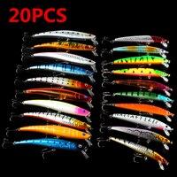 20PCS Minnow 2 Models 9 5cm 11 5cm Fishing Lures Sets 6 Hooks Fishing Hard Baits