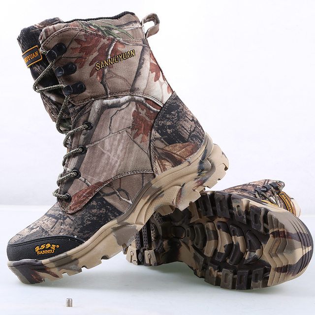 2017 Fashion Men Ankle Desert Combat Jungle Camouflage Winter Snow Boots Waterproof Outdoor Casual Hunting Shoes for  Men O247