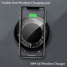 For samsung wireless charger pad Visible 10W Fast Wireless Charging iPhone XS Max X 8 PLUS mobile phone dock
