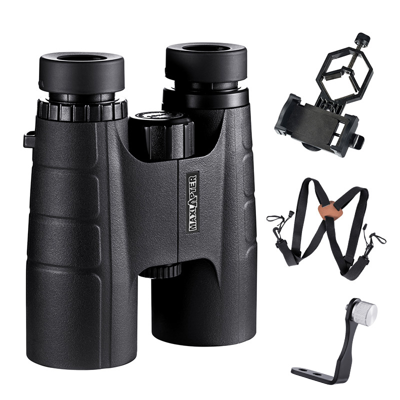 MAXLAPTER Binoculars Telescope 10x42 Hunting Tool Portable Light Weight Binoculo BAK4 Prism Optical For Adults Kids 8 10x32 8 10x42 portable binoculars telescope hunting telescope tourism optical 10x42 outdoor sports waterproof black page 8