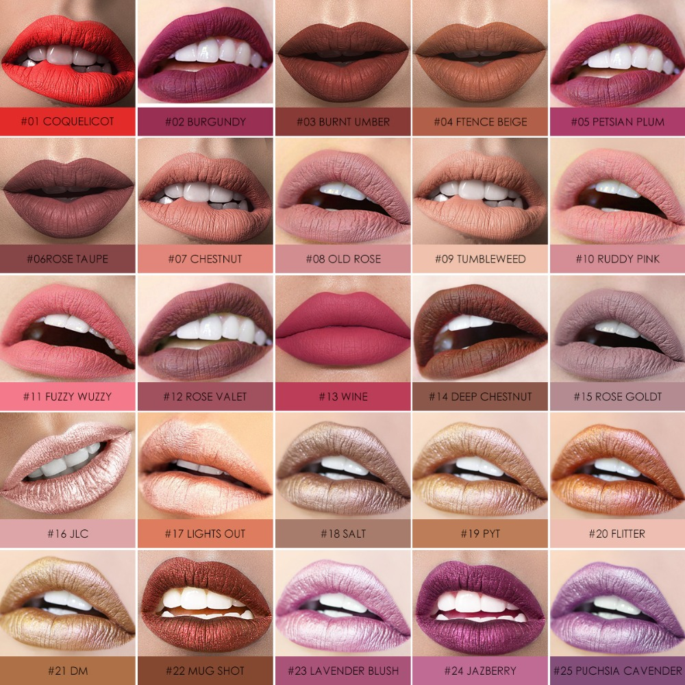 FOCALLURE Matte Lipstick Batom Waterproof Lip stick Smooth Long-lasting Cosmetics Kiss-proof Makeup Lip Stick 1