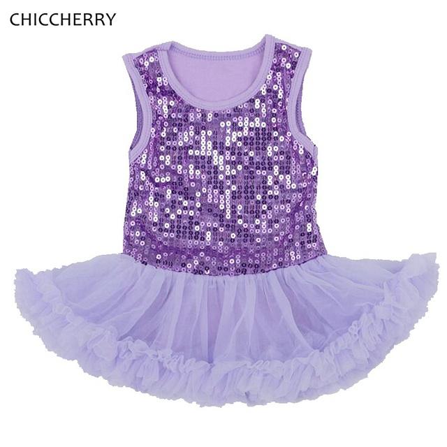 Lentejuelas de colores bebé girls lace tutu vestido de fiesta de boda sin mangas del mameluco dress trajes ropa infantil del niño del día de san valentín