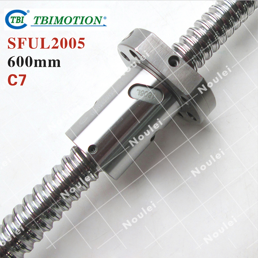 TBI MOTION 2005 Ball screw  Length 600mm with SFUL2005 Ballscrew Nut горелка tbi sb 360 blackesg 3 м