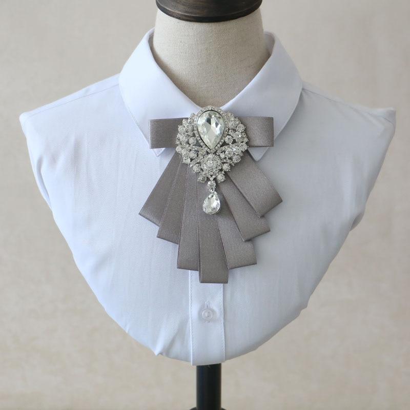 Handmade Shirt Clothing Accessories Elegant Gray Bow Tie Men's Trend Clothing Casual Korean Version of The Wedding Collar Flower