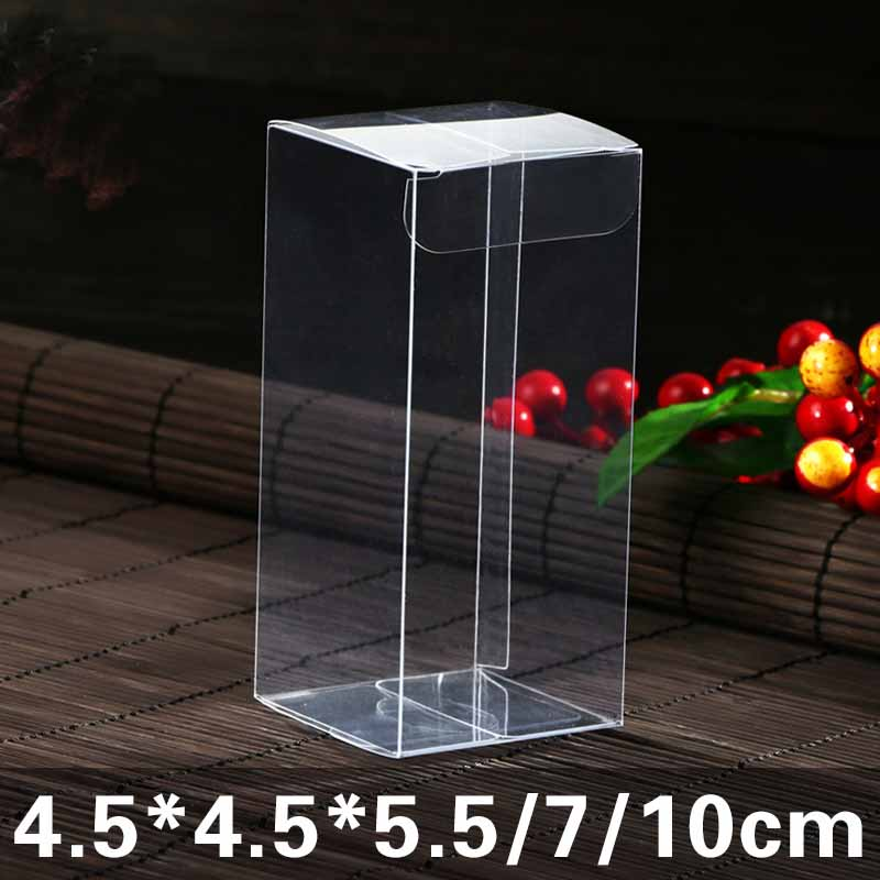 Clear Plastic Pvc Box Packing Boxes For Gifts/chocolate/candy/cosmetic/crafts Square Transparent Pvc Box 20pcs Pvc Box  In 2019