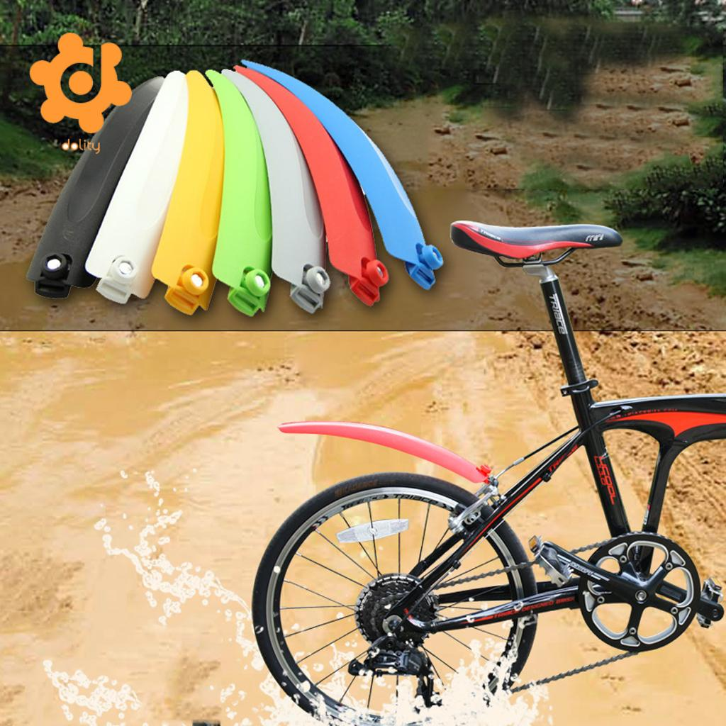 Black Front Rear Fender Mudguard Dry Clean Lightweight Tire Mud Rain Guards MTB