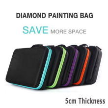 New Diamond Painting 액세서리 병 Container Storage Bag 다이아몬드 painting Carry Case 홀더 Zipper Daimond painting 상자(China)