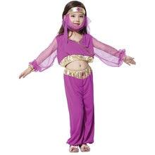 Kids Child Purple Arabian Princess Costumes for Girls Belly Dance Dress Halloween Purim Carnival Mardi Gras Party Fancy Cosplay цена в Москве и Питере