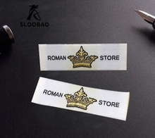 Free Shipping Customized 1000pcs Woven labels Garment/Shirt/Shoes/Bags Label Clothing Labels / Embroidered Tag