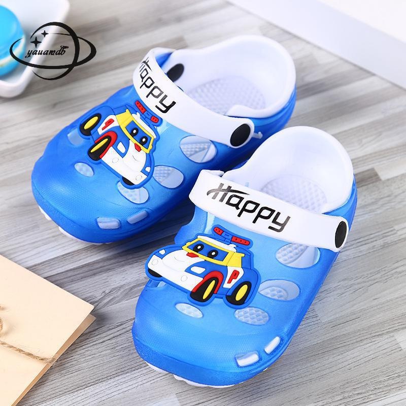 f6c8b7f2a0dfac YAUAMDB kids mules   clogs 2018 summer PVC boys girls flat with sandals  cartoon car breathable beach casual children shoes ly13