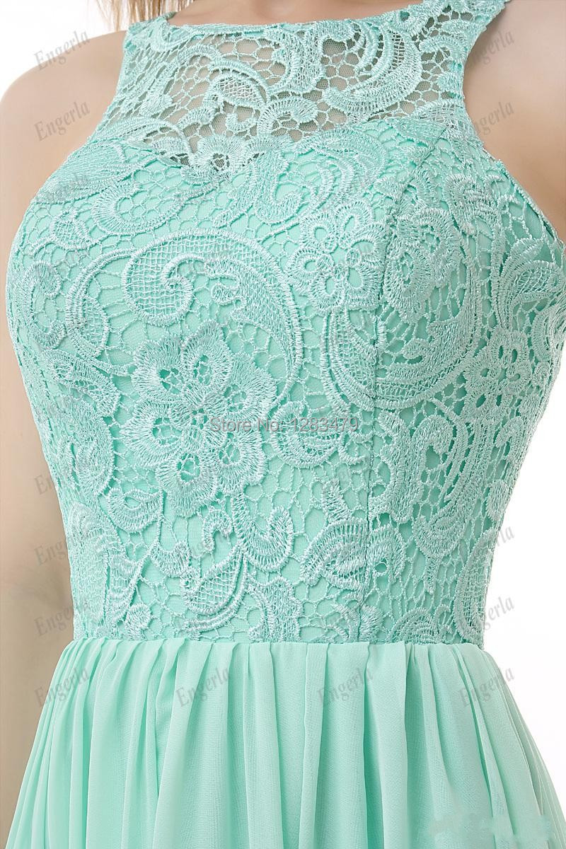 Lace mint green bridesmaid dresses