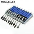 Newacalox 10 unids dremel carburo rebabas Brocas set Rotary Burr micro Brocas S para metal madera Tallados herramienta Diamante de cristal