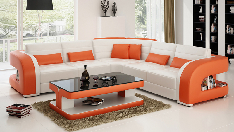 2015 Hot Selling Home Used Real Leather Sofa Living Room