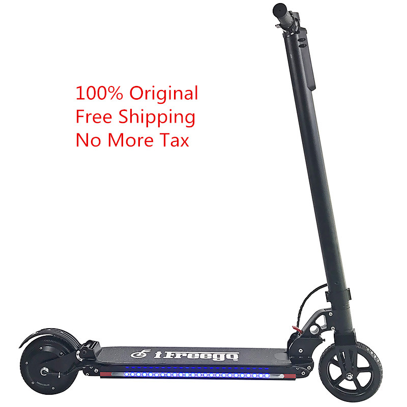 Free Shipping 100% Original ES-06X Two Wheels Folding Electric Scooter Aluminum Alloy Shockproof 350W Motor 6.6Ah Battery 2 wheels kick scooter 350w lithium battery electric scooter with seat max load 150kg for adults free shipping