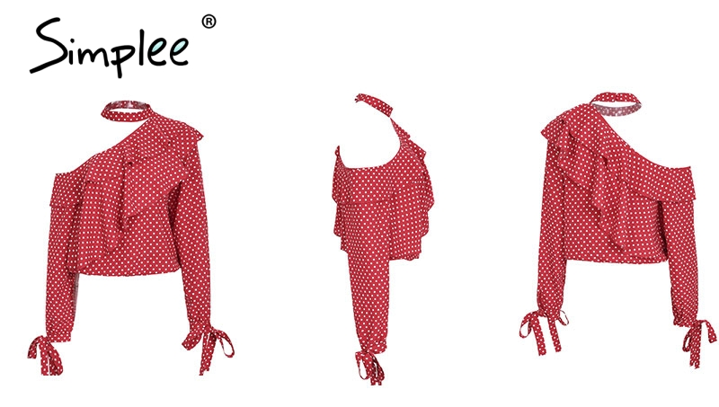 Fashion Red polka Dot Shirt