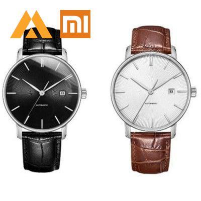 Xiao mi TwentySeventeen męskie lekkie mechaniczne mi zegarek 5ATM Xio mi z Sapphire powierzchni i Ganuine skórzany pasek w Inteligentny pilot zdalnego sterowania od Elektronika użytkowa na  Grupa 1