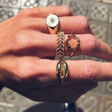 Набор женских колец diezi в богемном стиле золотого цвета винтажные