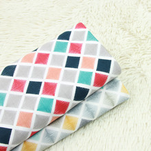Geometric Patterns Printed Cotton Twill Fabric DIY Sewing Material Patchwork Quilting Textile Crafts Cloth