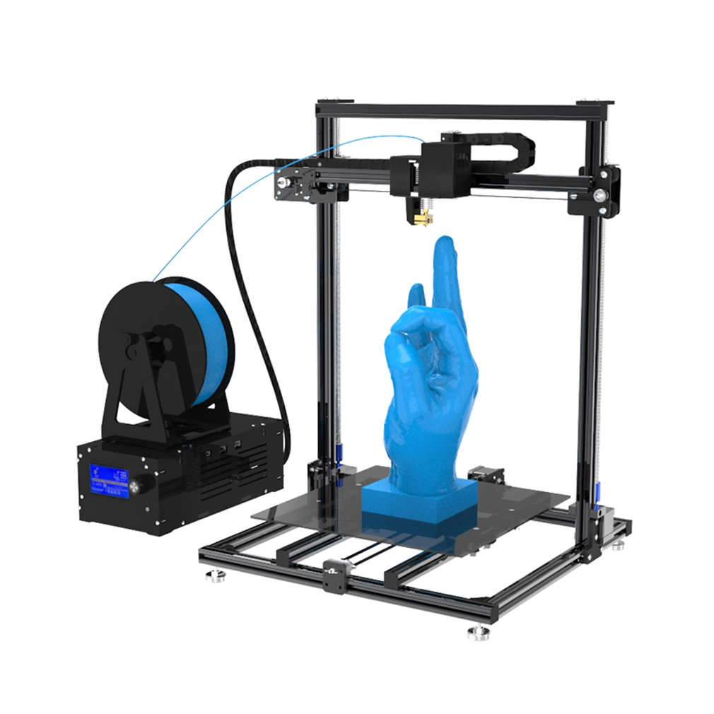 HCmaker7 LCD Affichage 3D Imprimante Bouton De Commande Grand Impression Taille 310*310*410mm Prend En Charge Plusieurs Langues de L'UE plug