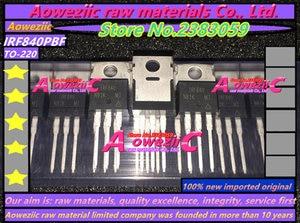 Image 2 - Aoweziic 2018 + 100 ٪ الجديدة المستوردة الأصلي IRF840PBF IRF840 TO 220 mosfet حقل تأثير الترانزستور 500 فولت 8a
