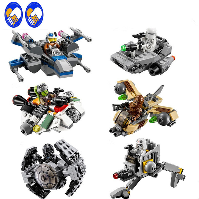 1pcs Star Wars Rogue One Blocks Micro Fighters Clone Wars Spaceship Classic Figures Compatible Starwars Fighter ZB-A132-7 lp a132