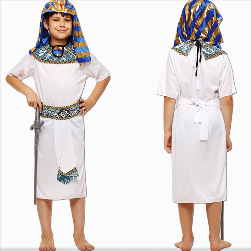 halloween costumes boy girl ancient egypt egyptian pharaoh cleopatra prince princess costume for children kids cosplay - Egyptian Halloween Costumes For Kids