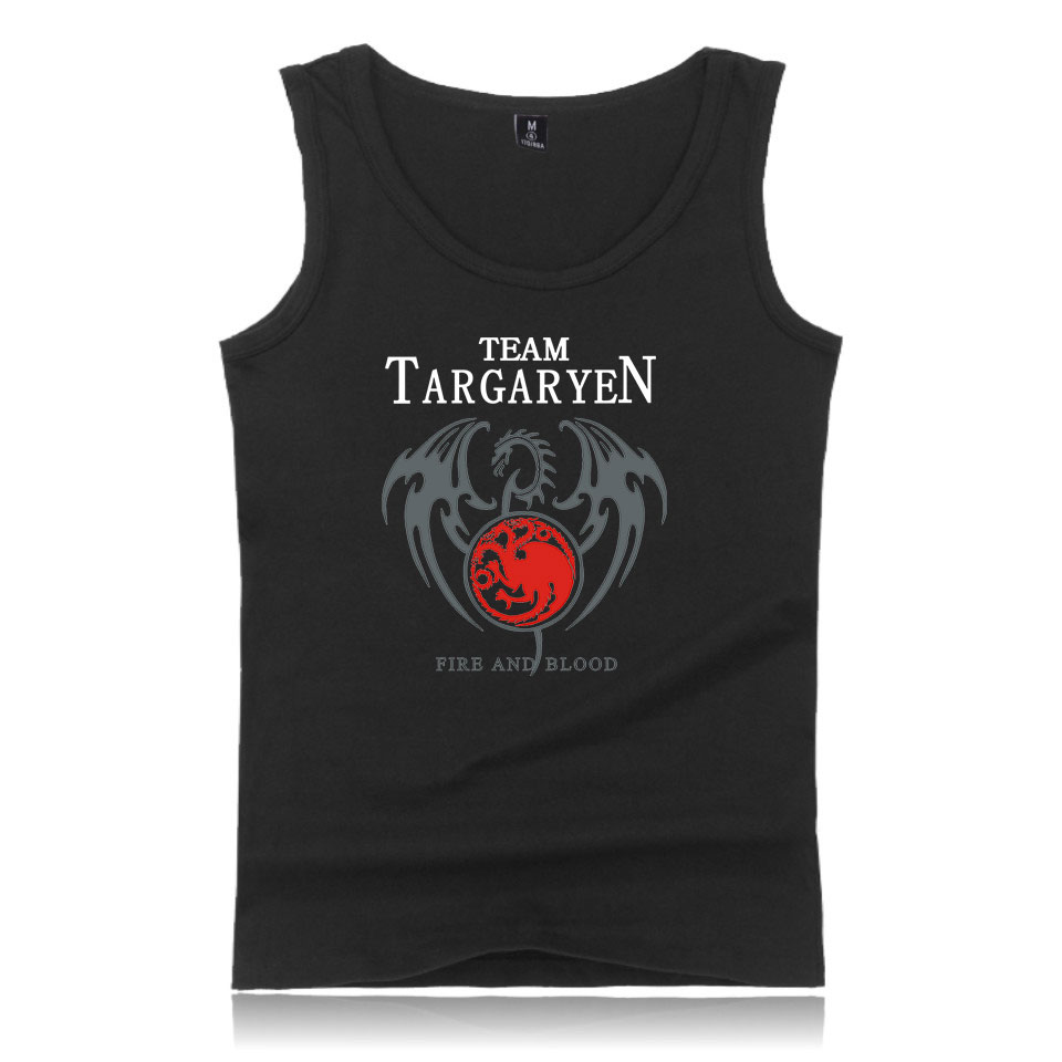 Game of Thrones Targaryen Fire & Blood   tank     top   Men 2019 Summer Fit Slim Stark   tank     top   Men's Sportswear Kpop breathable