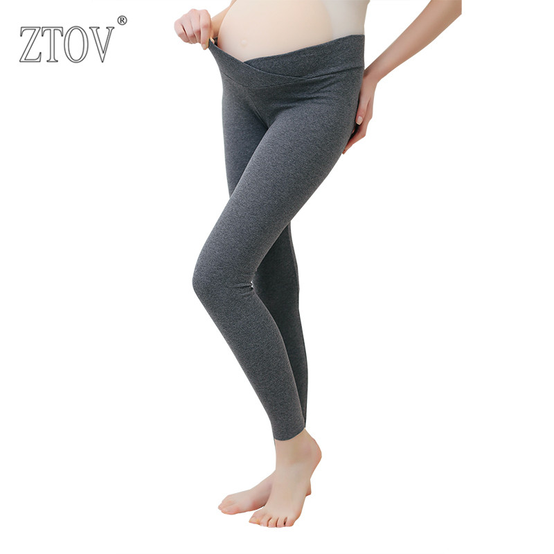 ZTOV 2017 Spring Maternity Leggings Low Waist Pregnancy Belly Pants For Pregnant women Maternity Thin Trousers