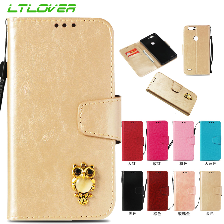 Fashion Retro 3D Owl Crystal Case For ZTE Blade Z Max Z982 Case Flip Leather Cover For ZTE Blade Z max Pro Z981 Phone Bags Funda