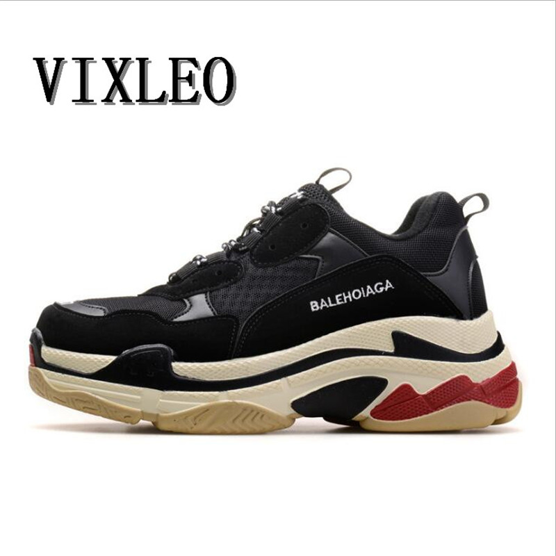 2018 Men Casual Shoes solomons Thick bottom air mesh Comfortable Breathable Shoes breathable outdoor shoes Triple S Size 36 46