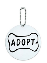 Wholesale Adopt Dog Bone Animal Shelter Adoption Round Luggage ID Tag Card Suitcase Carry-On FH890339