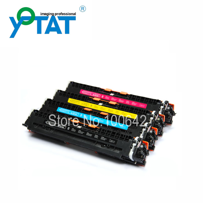 Toner cartridge CE310A CE311A CE312A CE313A for HP Color LaserJet CP1025 CP1025NW free shipping color toner powder ce310a ce311a ce312a ce313a compatible for hp cp1025 m175a m175nw c m y bk 4kg lot