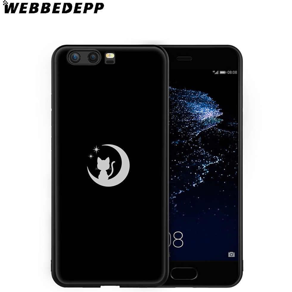 WEBBEDEPP סיילור מון אנימה רך מקרה עבור Huawei P8 P9 P10 P20 P30 לייט פרו P חכם Z בתוספת 2019 y6 ראש 2018 2017 לייט מיני