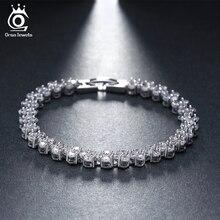 ORSA JEWELS Luxury 86 Pieces AAA Grade Cubic Zirconia Bracelet For Women Roman Design Bracelet Jewelry Wholesale OB08
