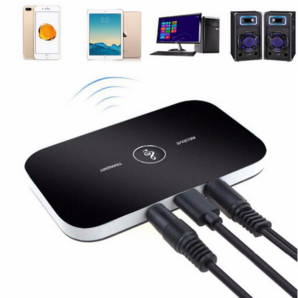 Bluetooth Rt - B6 Adapter Hifi Wireless Audio Bluetooth Receiver And Transmitter With 3.5mm Audio Input And Output For Tv Mp3 Pc