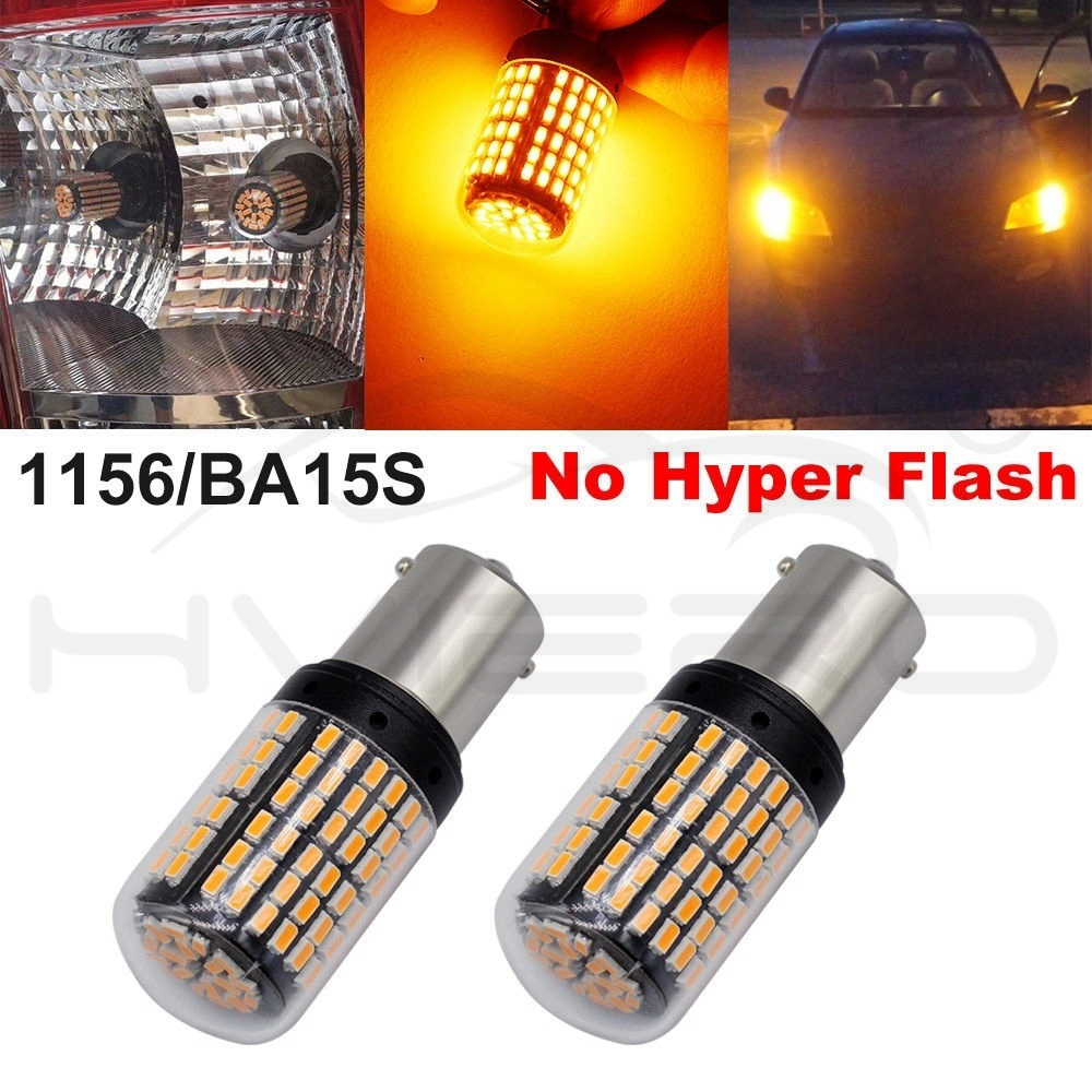 Hviero 2X 1156 1141 1073 7506 BA15S P215W Car Led Tail Bulb Brake Lights Auto Reverse Lamp Daytime Running Light White Yellow DC 12V 24v