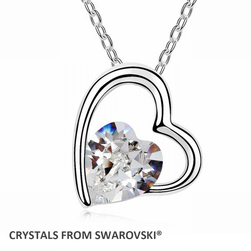 Betti Jewelry 2015 Mother's Day gift! 7 colors crystal heart pendant necklace With Crystals from SWAROVSKI for Valentine's Day gift